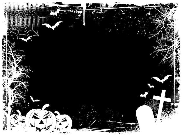 Frontera de halloween grunge