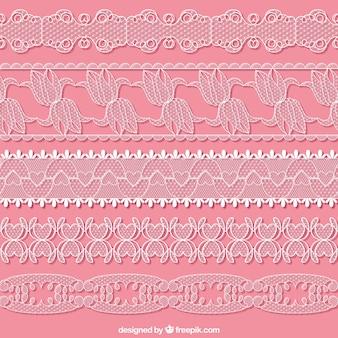 Fronteras del cordón dibujado mano conjunto