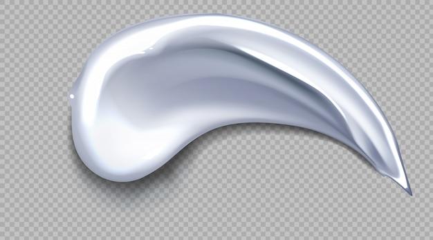 Frotis de crema blanca. icono de producto de belleza cosmética