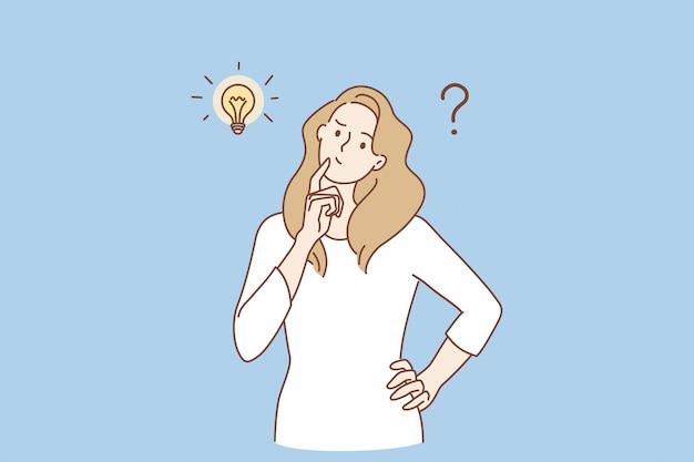 Frustración, duda, y, pregunta, concepto