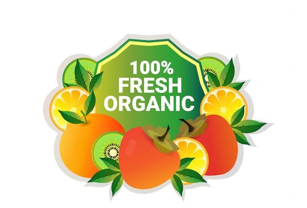 Fruta caqui colorido círculo copia espacio orgánico sobre fondo blanco.