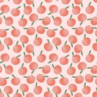 Fruta durazno sin costuras.