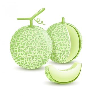 Fruta fresca verde de melón