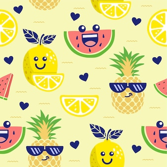 Fruta linda de patrones sin fisuras