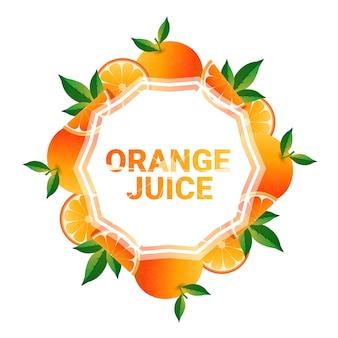 Fruta naranja colorido círculo copia espacio orgánico sobre fondo blanco.