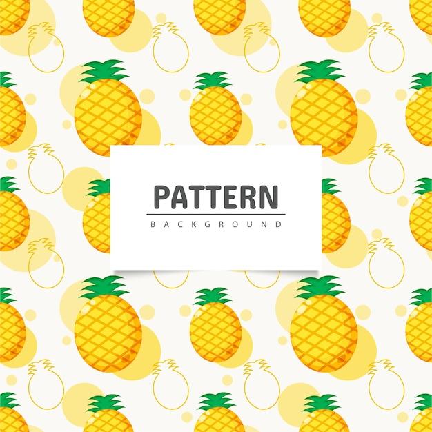 Fruta de piña de patrones sin fisuras