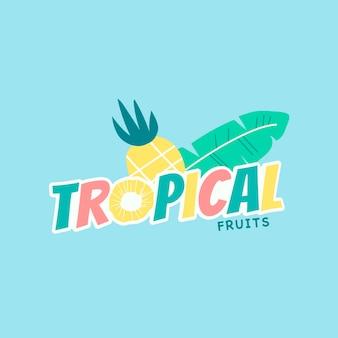 Fruta de piña tropical colorida