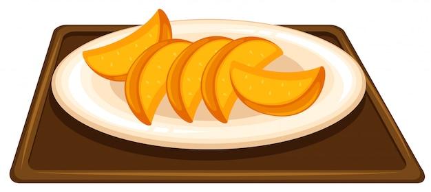 Fruta en el plato