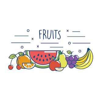 Fruta sabrosa dieta de nutrición de alimentos