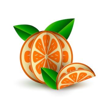 Frutas 3d papel cortado objeto aislado