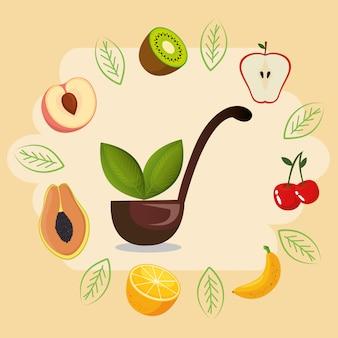 Frutas frescas comida sana