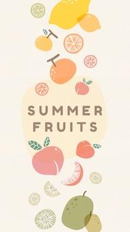 Frutas frescas de verano