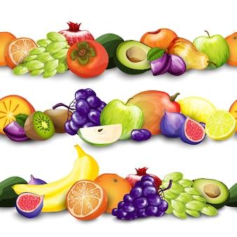 Frutas fronteras ilustración