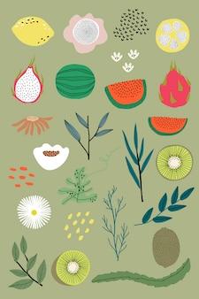 Frutas de verano mixtas
