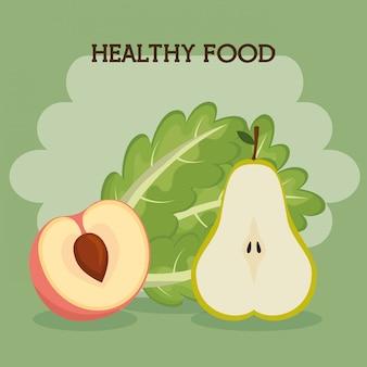 Frutas y verduras comida saludable