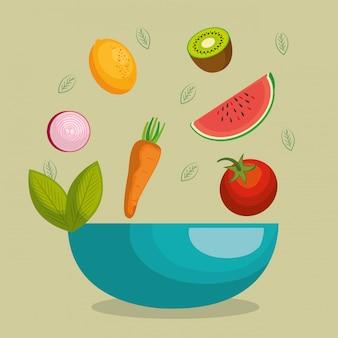 Frutas y verduras comida sana