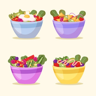 Fruteros y ensaladeras