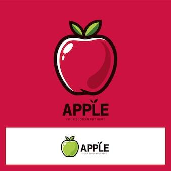 Fruto rojo verde aplle