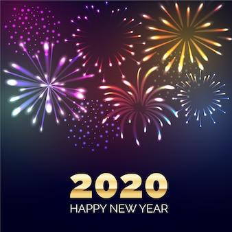 Fuegos artificiales año nuevo 2020