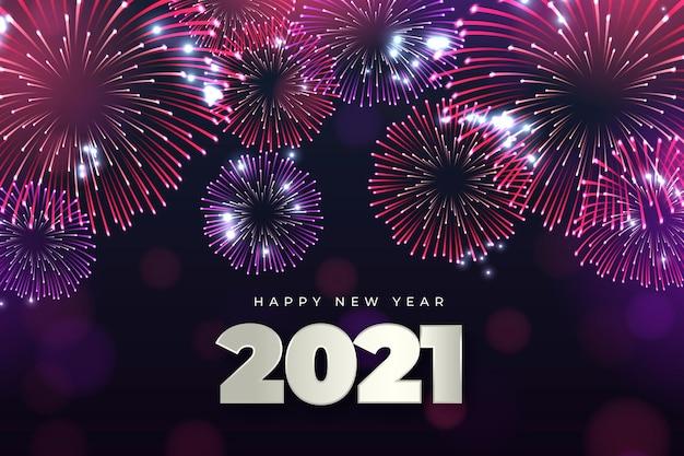 Fuegos artificiales año nuevo 2021