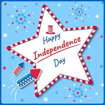 Fuegos artificiales del día de la independencia
