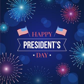 Fuegos artificiales del día de los presidentes
