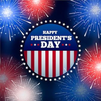 Fuegos artificiales para el evento del día de los presidentes