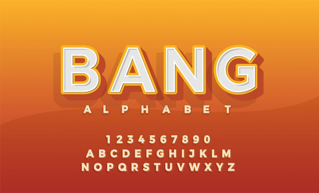 Fuente 3d alfabeto retro typeace