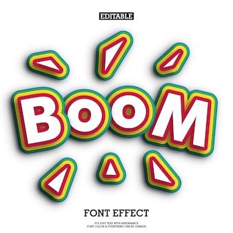 Fuente 3d con colofull pop art efecto de texto para el diseño de celebración