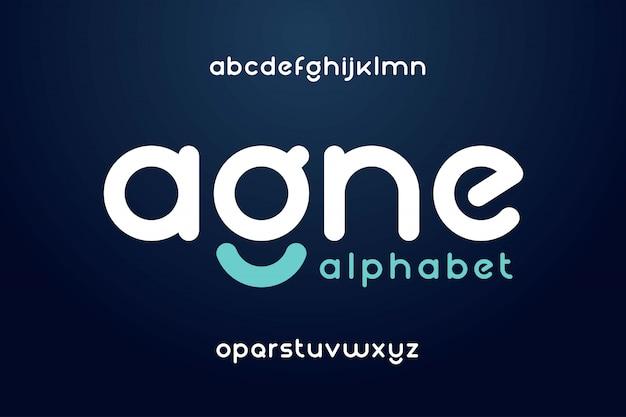 Fuente abstracta moderna y alfabeto