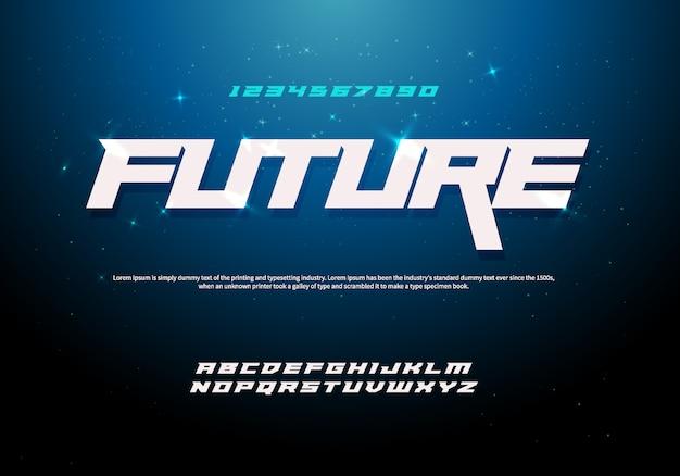 Fuente del alfabeto cursiva moderna. tipografías tipográficas de estilo urbano para tecnología, digital.