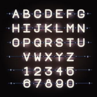 Fuente de alfabeto de luces de neón