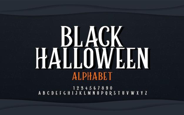 Fuente de alfabeto de miedo de halloween.