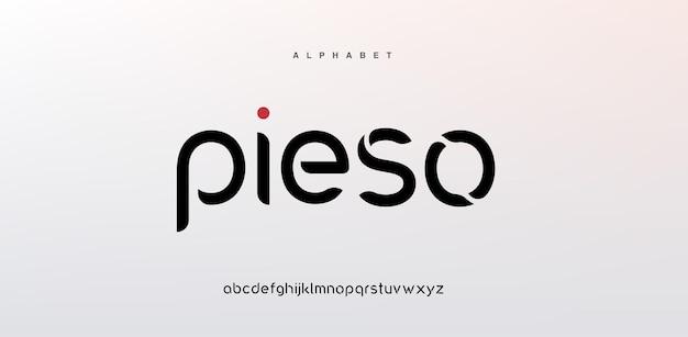 Fuente de alfabeto moderno abstracto en mayúsculas