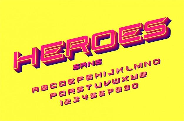 Fuente del alfabeto moderno deporte futurista. fuentes tipográficas de estilo urbano para tecnología, digital, diseño de logotipo de película.
