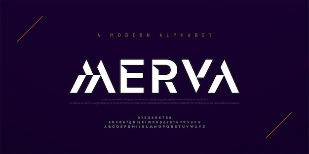 Fuente de alfabeto urbano moderno abstracto