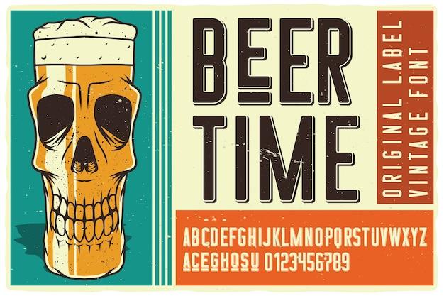 Fuente beer time label