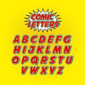 Fuente cómica alfabeto pop art