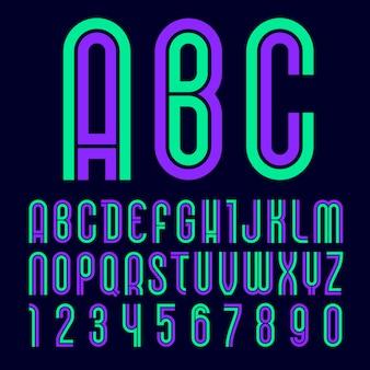 Fuente disco, alfabeto de moda