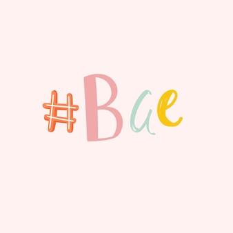 Fuente doodle #bae