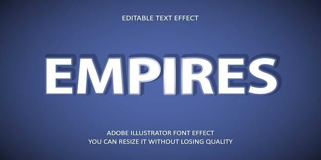 Fuente de efecto de texto vectorial editable de creative empires