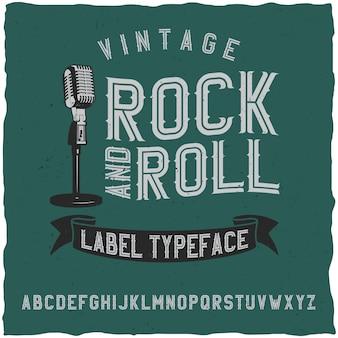 Fuente de etiqueta rock and roll