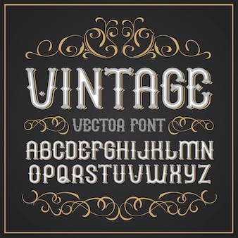 Fuente de etiqueta vintage fuente retro