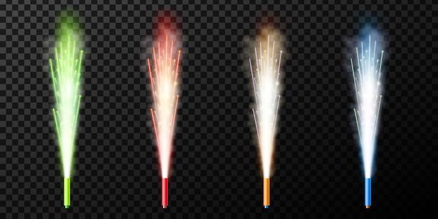 Fuente de fuegos artificiales de chispas saludo