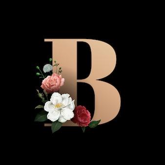 Fuente de letra b floral