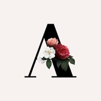 Fuente de letra a floral