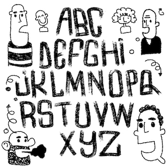 Fuente de letras aislada. alfabeto de textura
