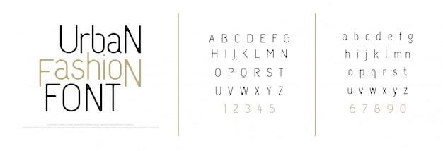 Fuente de letras del alfabeto elegante. letras clásicas