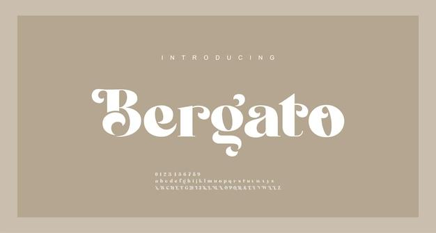 Fuente de letras del alfabeto de lujo elegante. tipografía fuentes serif modernas concepto vintage decorativo regular. ilustración Vector Premium