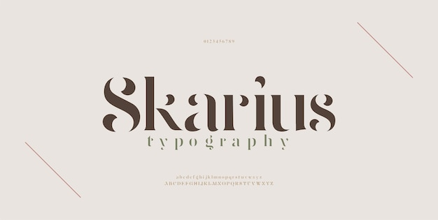 Fuente de letras del alfabeto moderno elegante. diseños de moda minimalista con letras clásicas. tipografía fuentes serif modernas concepto vintage decorativo regular.